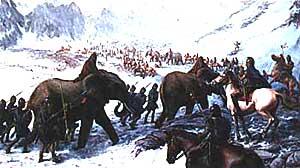 ハンニバル・バルカと象がアルプスを越える